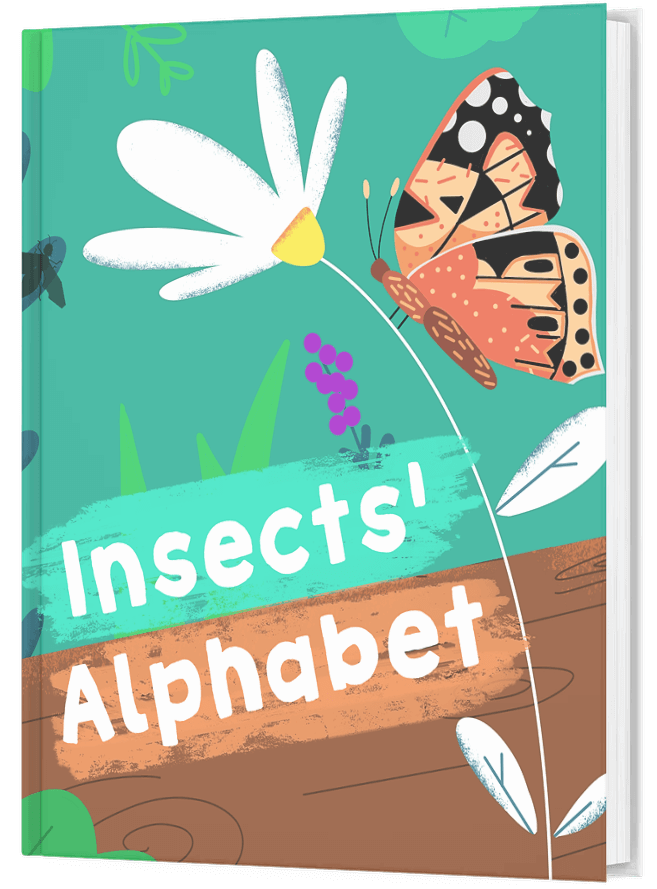 Insects Alphabet book mock up
